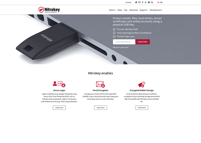 Nitrokey - AgileSoftlabs Web Development, Design Portfolio
