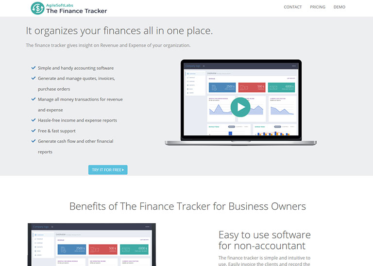 Finance Tracker - AgileSoftLabs Ruby on Rails Web Development, Design Portfolio